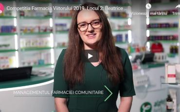 Beatrice Elena Lascu, ocupanta locului doi al Competiției Farmacia Viitorului: Cred că ar trebui să meargă mai departe acest proiect, pentru a profita și alți colegi de el
