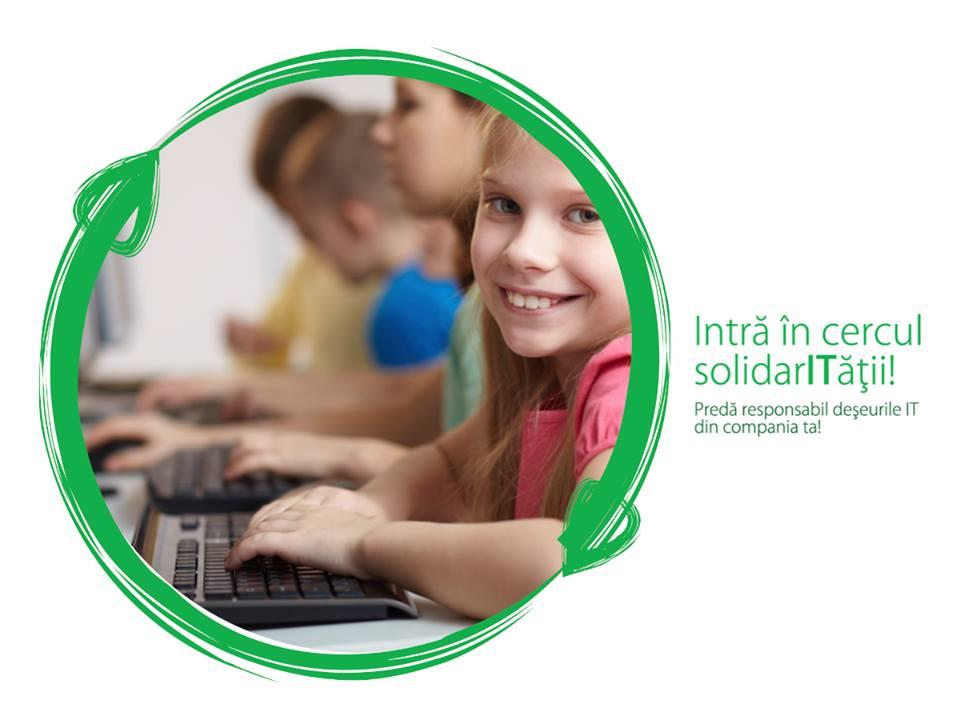 Intră în Cercul SolidarITății! Transformă echipamentele uzate în oportunități pentru copiii din comunitățile defavorizate!