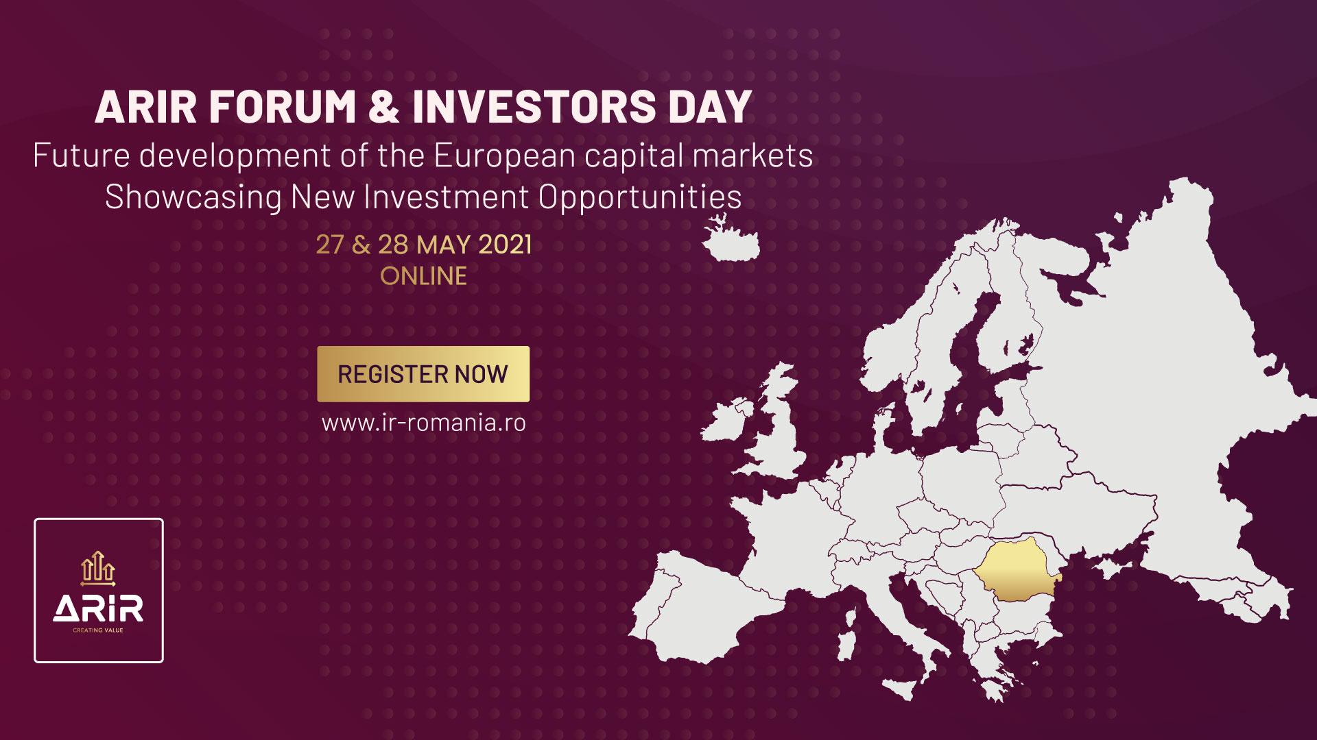Viitorul piețelor de capital europene, în discuție la Forumul Anual ARIR