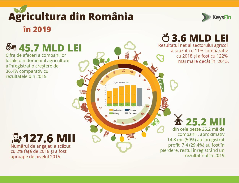 Agricultura românească va scădea cu aproximativ 15% în 2020