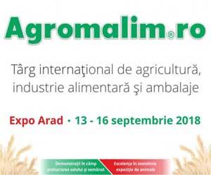 Peste 280 de expozanţi din 11 ţări vor participa la Târgul Agromalim de la Arad