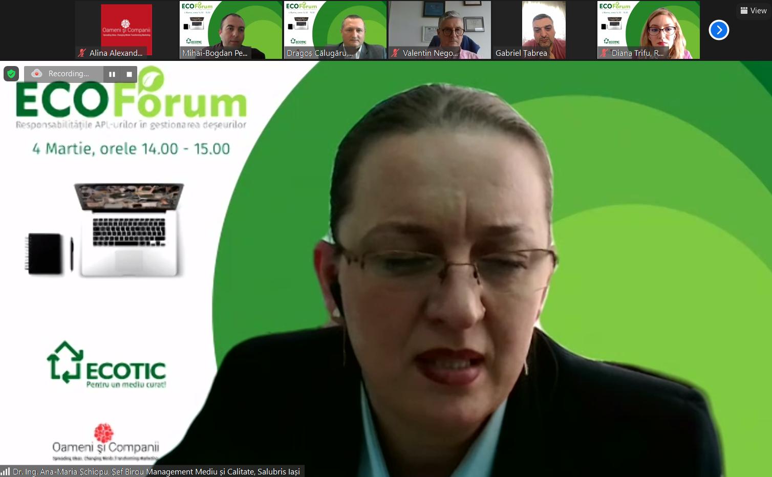 Dr. ing. Ana-Maria Șchiopu, Salubris Iași: Avem la Iași primul Centru Municipal de Colectare al Deșeurilor Reciclabile și Periculoase