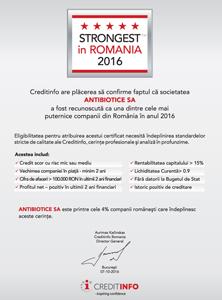 """Antibiotice Iasi – """"Strongest in Romania"""" 2016"""
