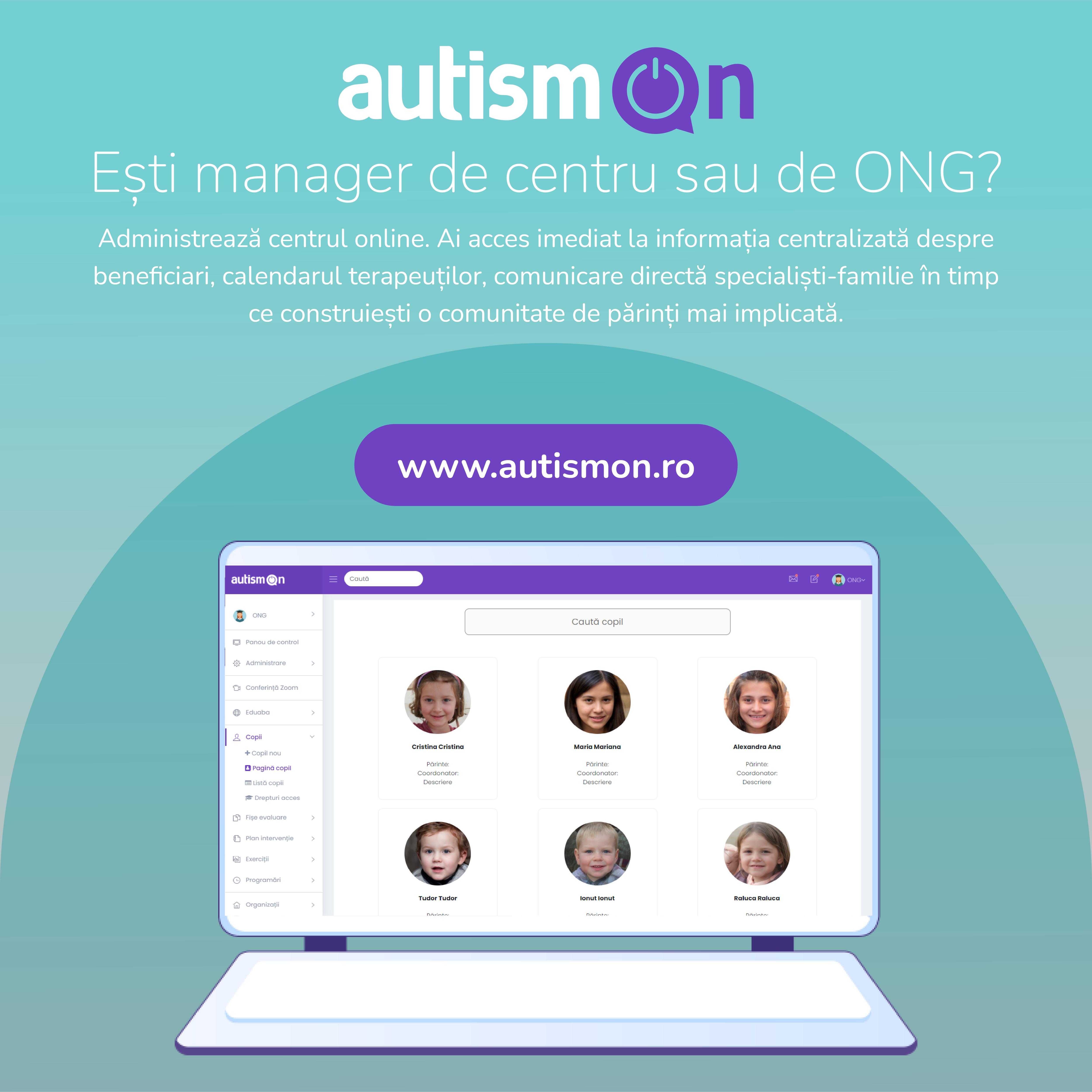 Asociația Help Autism lansează, prin platforma AutismON, primul centru online din țară care acoperă toate nevoile copilului cu autism