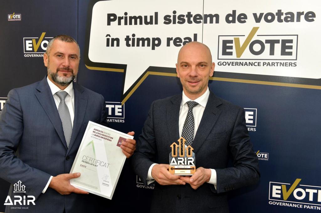 eVote, companie care promovează accesul facil la AGA, devine membru ARIR