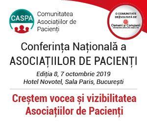 S-au deschis înscrierile pentru cea de-a opta întâlnire a comunității Asociațiilor de Pacienți – CASPA