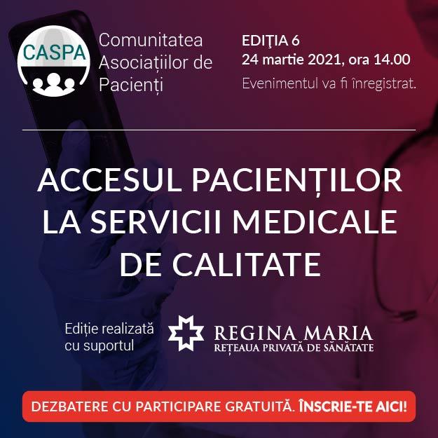 Comunitatea Asociațiilor de Pacienți CASPA.RO se întâlnește digital pe 24 martie 2021