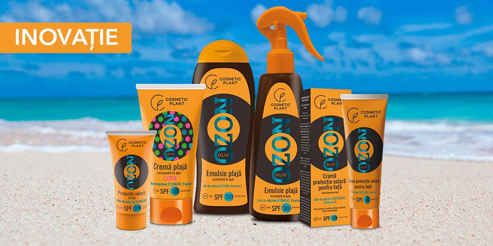 COSMETIC PLANT lansează prima gamă de produse pentru protecție solară cu ulei de măsline ozonizat