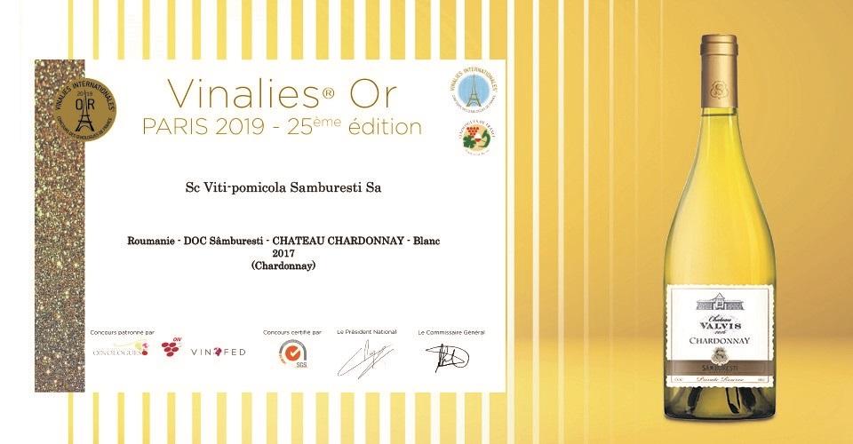 """Un vin din gama premium a Domeniilor Sâmburești a fost medaliat cu aur la """"Vinalies Internationales"""" de la Paris"""