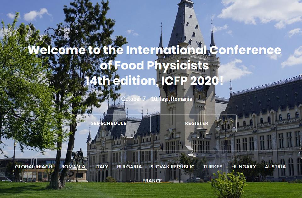 Conferința Internațională pentru Fizica Alimentelor: Iași, 7-10 octombrie