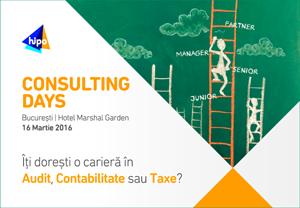 Consulting Days: șase companii multinaționale vor să întâlnescă tineri pasionați de o carieră în consultanță