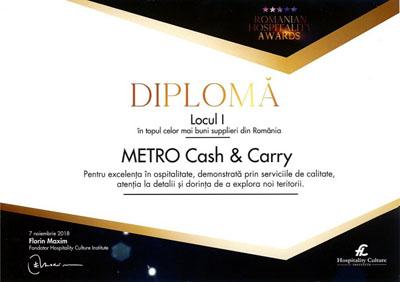 METRO, desemnat cel mai bun furnizor în industria HoReCa din România
