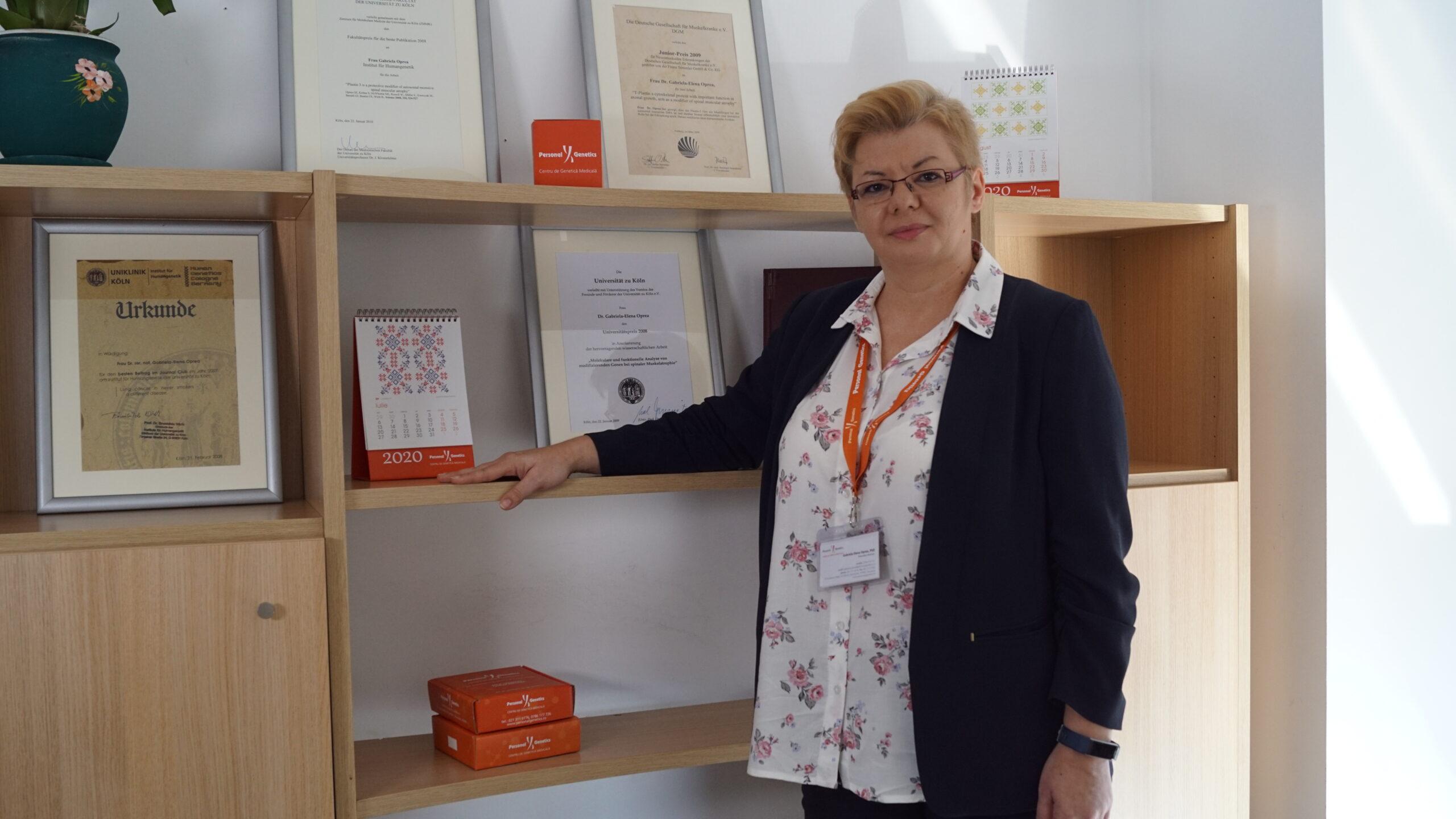 Dr. Gabriela Oprea preia conducerea centrului Personal Genetics