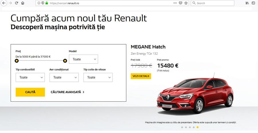 Groupe Renault România a ajuns la vânzări-record de 30 de maşini pe zi pe platformele online