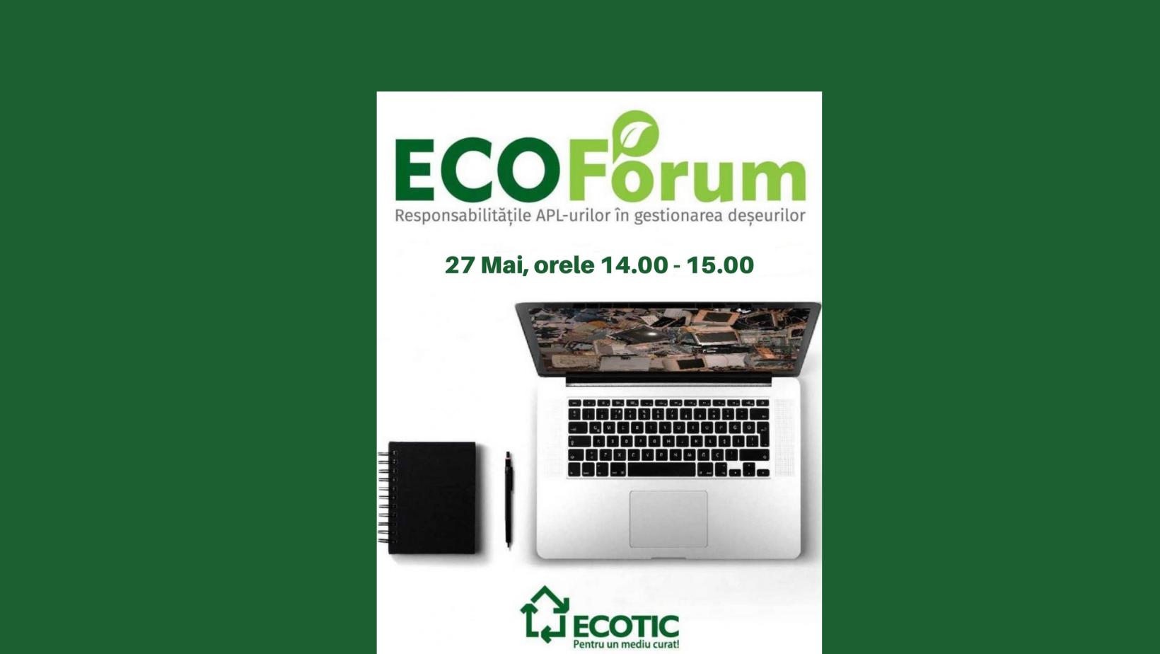 """""""Responsabilitățile APL-urilor în gestionarea deșeurilor"""" – tema Webinarului EcoForum din 27 mai"""