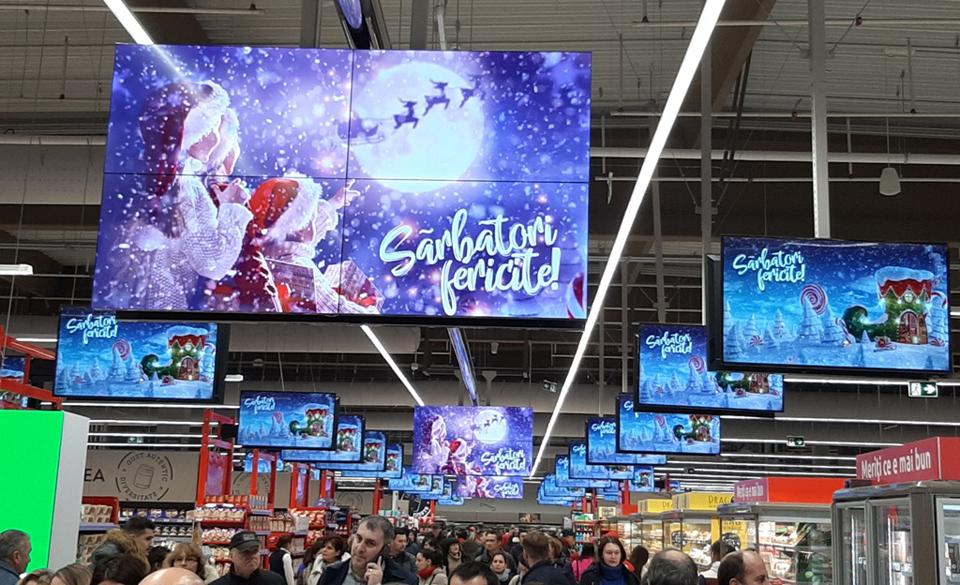 700 de ecrane situate în magazinele Carrefour din România vor fi integrate în sistemul TPS Engage