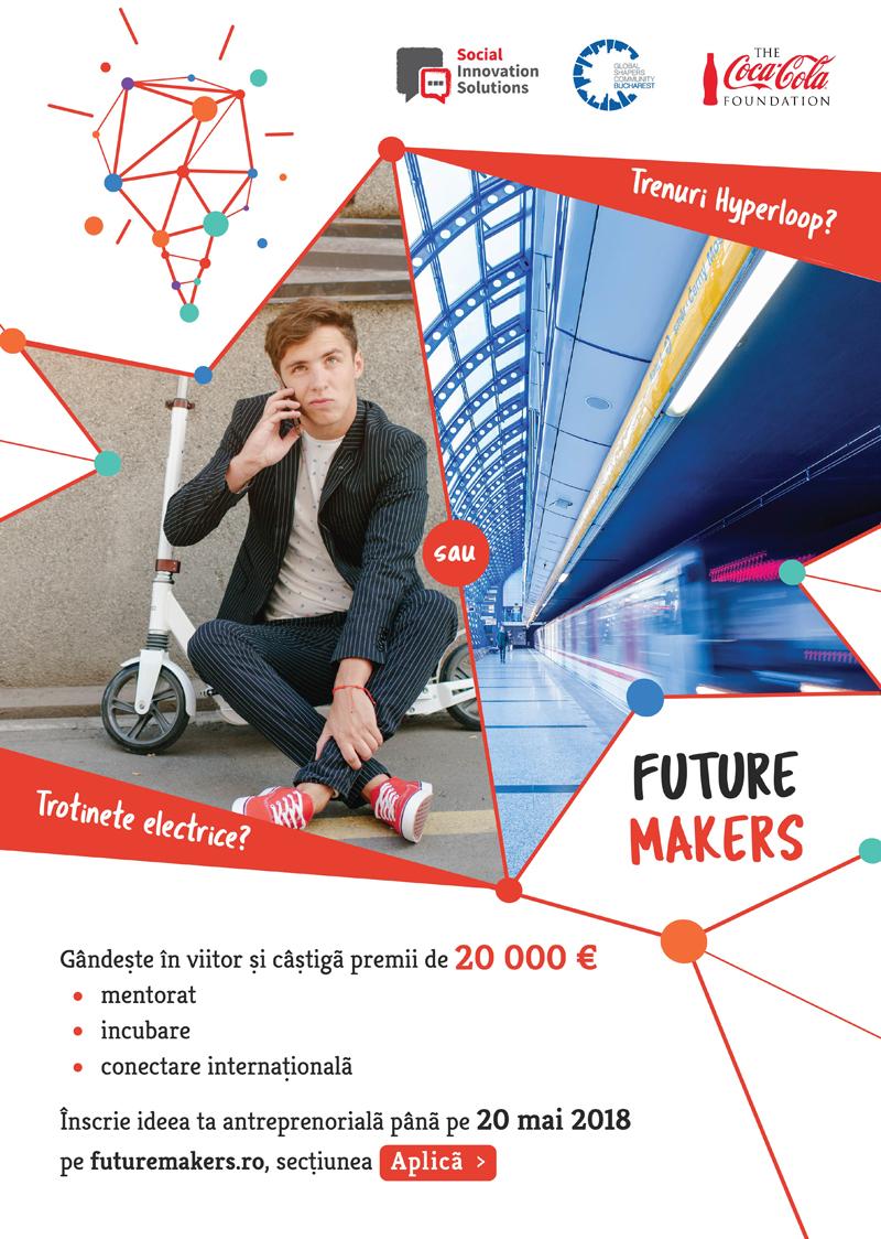 Experți de la World Economic Forum, Oxford și antreprenori români caută tineri cu idei de viitor pentru a-i premia cu 20.000 euro în competiția Future Makers