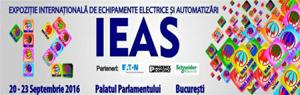 Expoziția de echipamente electrice și automatizări International Electric & Automation Show, IEAS, are loc la Palatul Parlamentului între 20 și 23 septembrie