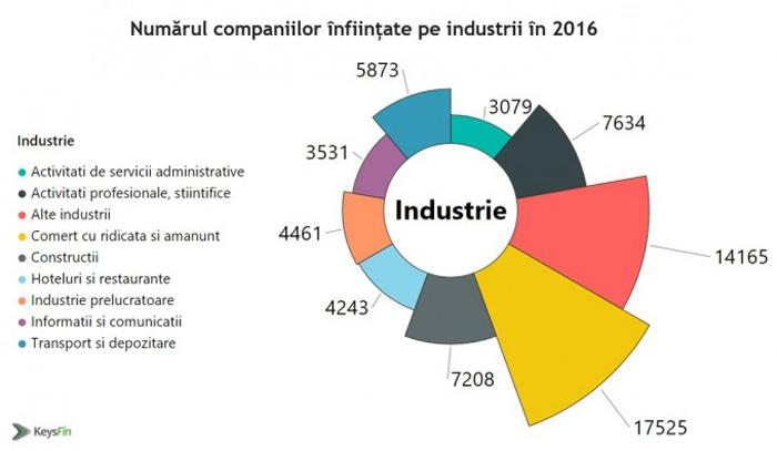 26% dintre firmele nou înființate în ultimul an activează în comerț