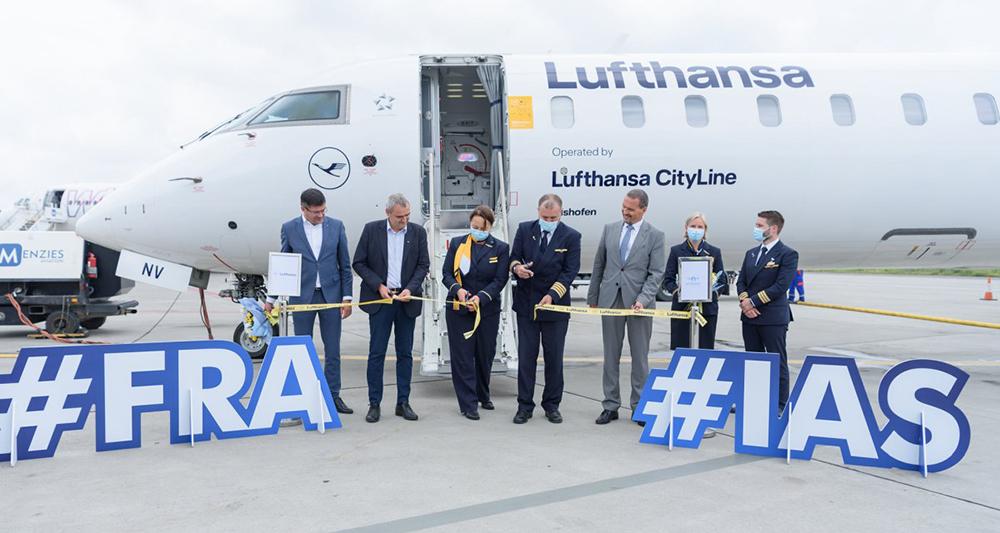 Compania aeriană Lufthansa va opera patru zboruri săptămânale între Iaşi și Frankfurt