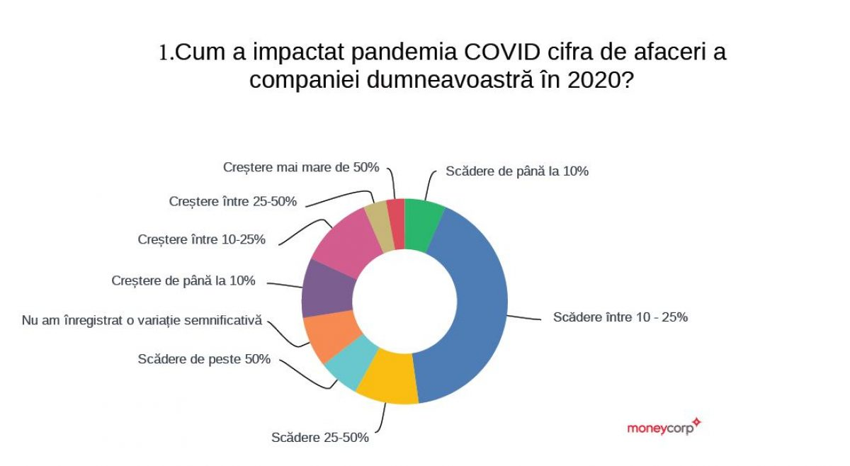 Peste 60% dintre companii estimează că vor atinge cifra de afaceri din 2019 abia în 2022