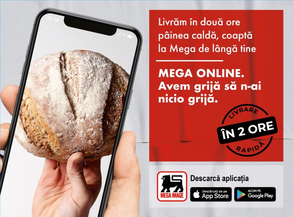 Mega Image extinde serviciul de livrare rapidă la nivel național prin aplicația de mobil