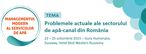 Prima ediție a Conferinței Naționale de Management Modern al Serviciilor de Apă din România are loc în perioada 22-25 octombrie, la Gura Humorului