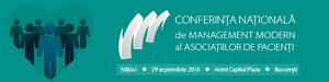 Conferința de Management Modern dedicată Asociațiilor de Pacienți are loc pe 29 septembrie la București