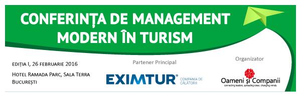 150 de membri ai comunităţii de turism Oameni şi Companii participă la Conferinţa de Management Modern în Turism