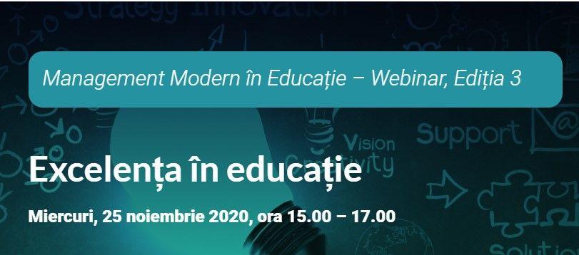 Excelența în Educație a fost tema celei de-a treia întâlniri digitale a platformei Edumanager.ro