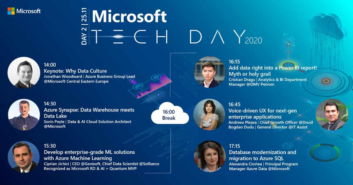 A doua zi a Microsoft Tech Day este dedicată Inteligenței Artificiale