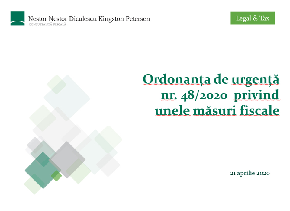 Material informativ updatat privind măsurile fiscale adoptate în criza Covid19 pentru sprijinirea contribuabililor