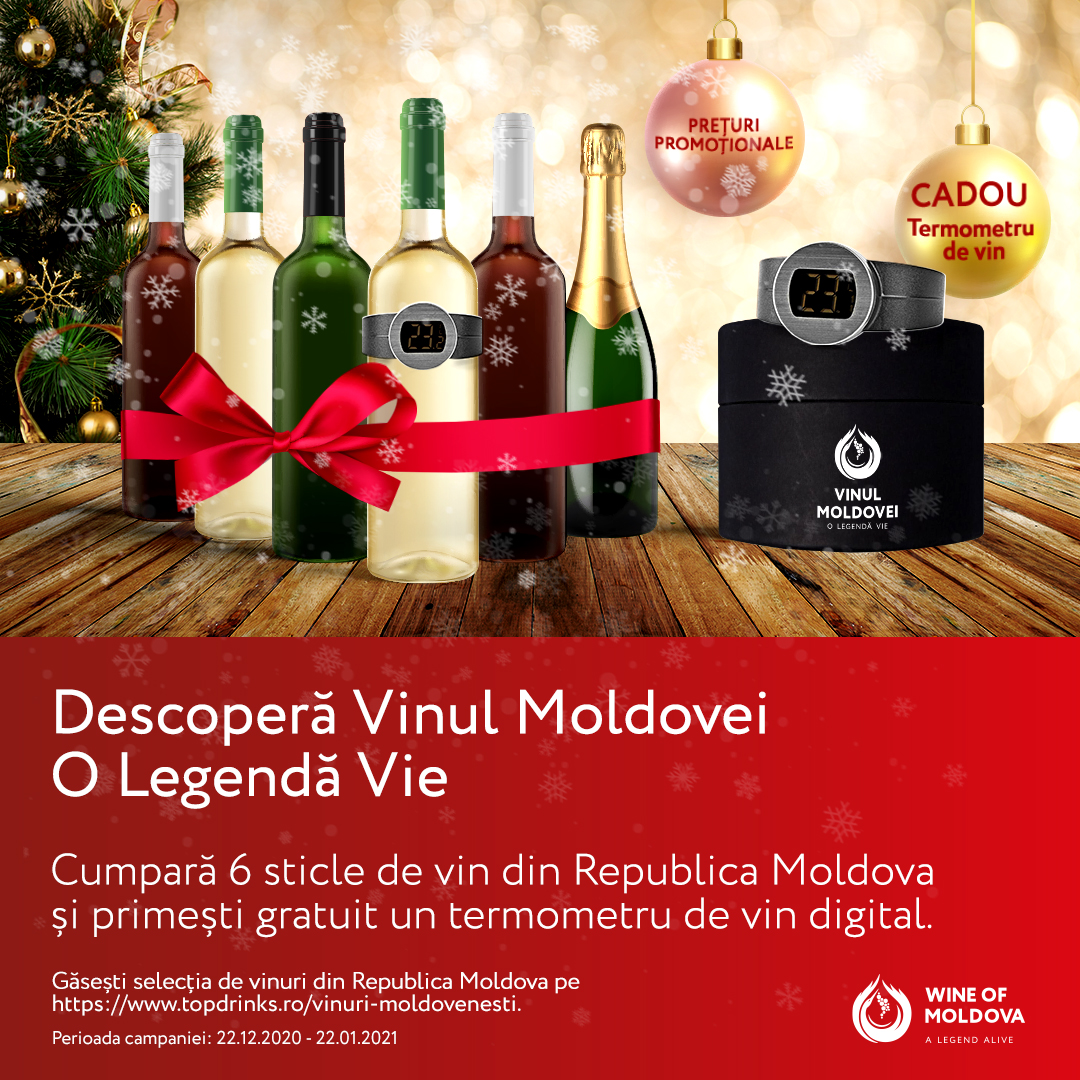 Wine of Moldova, în parteneriat cu TopDrinks.ro, lansează cea mai vastă selecție online de vinuri din Republica Moldova