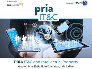 Companiile IT&C pot afla noutăți despre licențe, drepturi de autor, mărci, brevete și invenții în cadrul conferinței PRIA IT&C and Intellectual Property