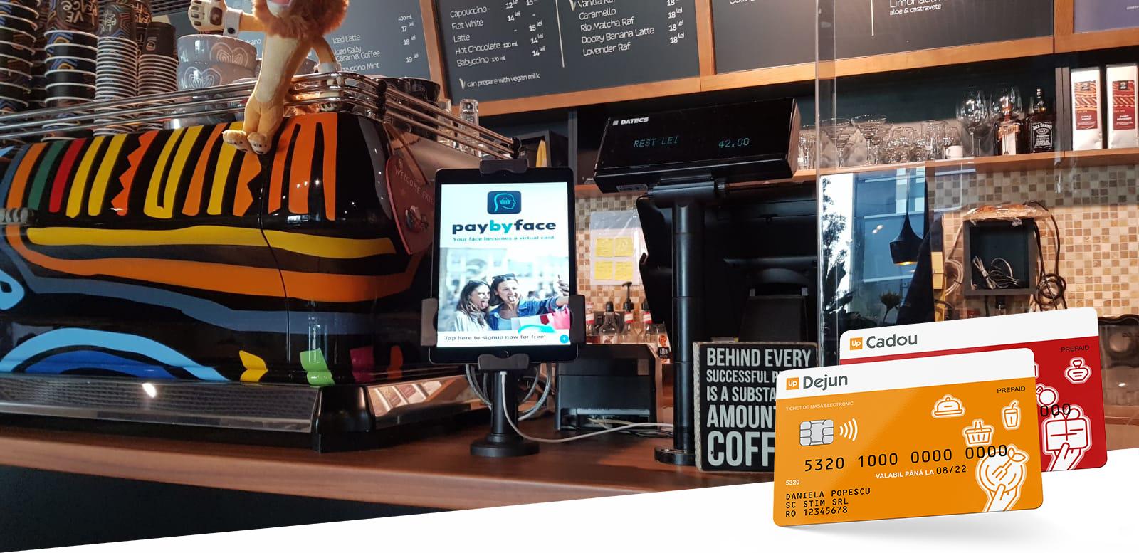 Sistem de plată prin recunoaştere facială, disponibil pentru utilizatorii de carduri Up