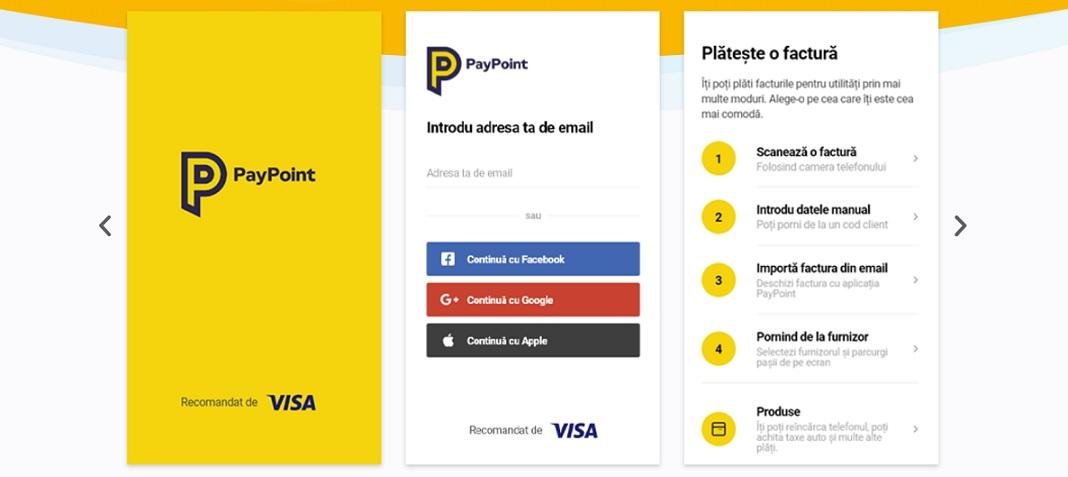 PayPoint intră în piața digitală, lansând  aplicația mobilă de plăți cu același nume