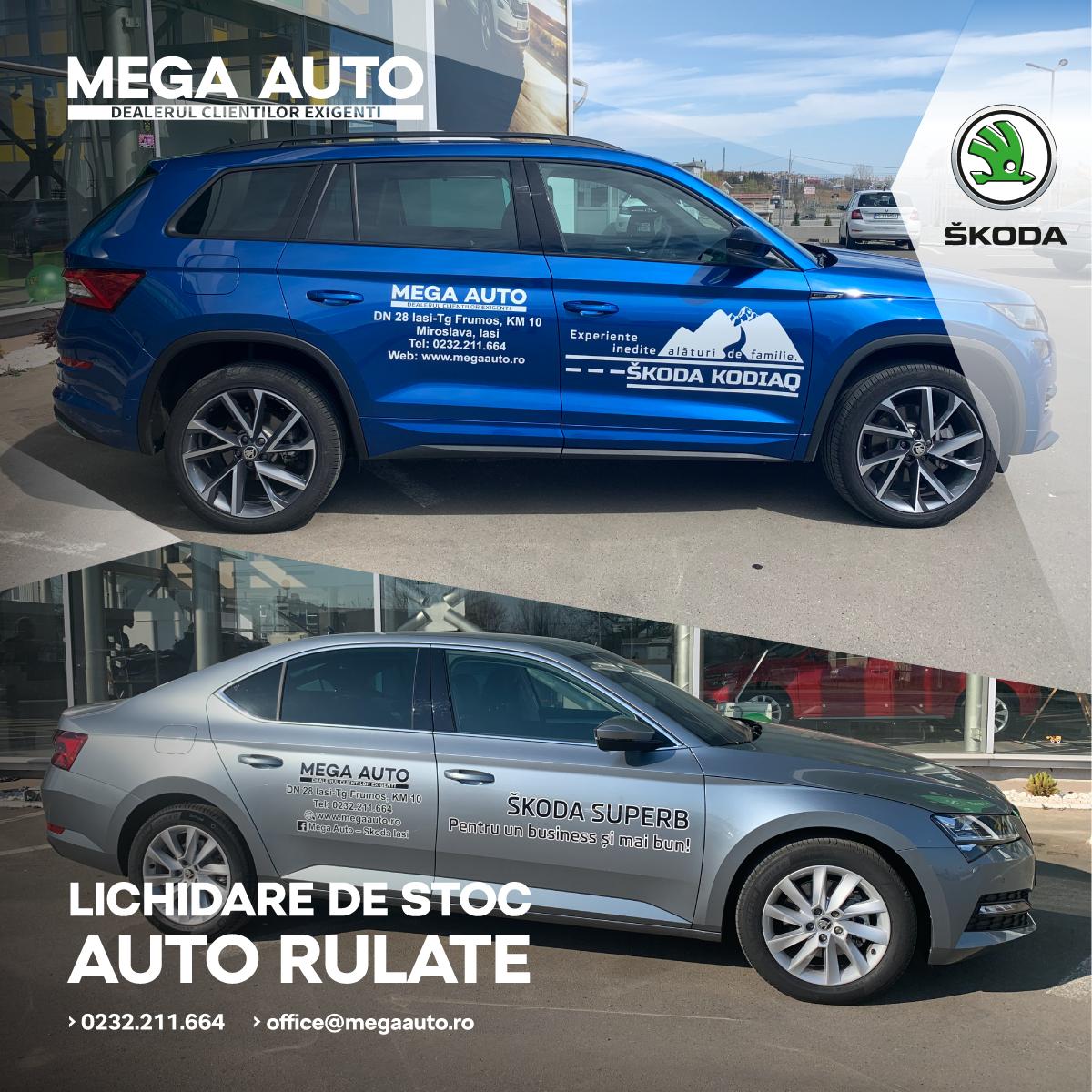 Lichidare de stoc Auto Rulate la Mega Auto – ŠKODA Iași