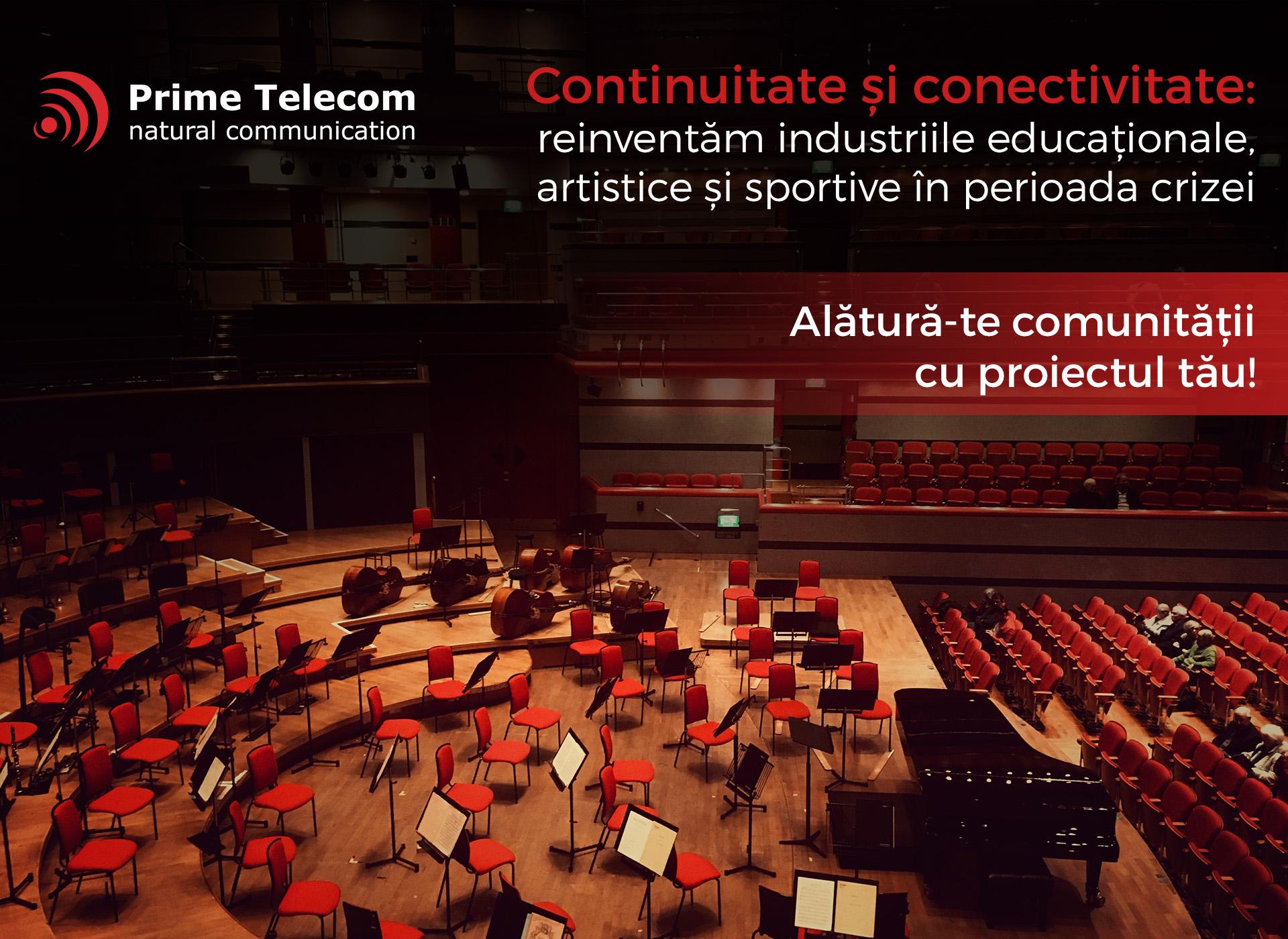 Prime Telecom sprijină companiile din industriile educaționale, artistice și sportive cu resurse gratuite de cloud