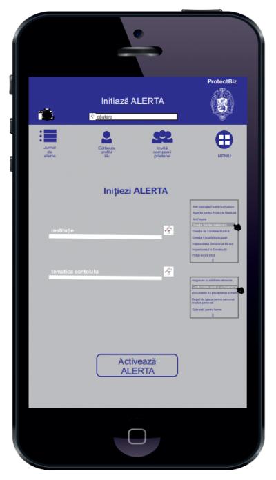 Aplicaţie pentru alertarea oamenilor de afaceri în cazul controalelor din partea instituţiilor statului