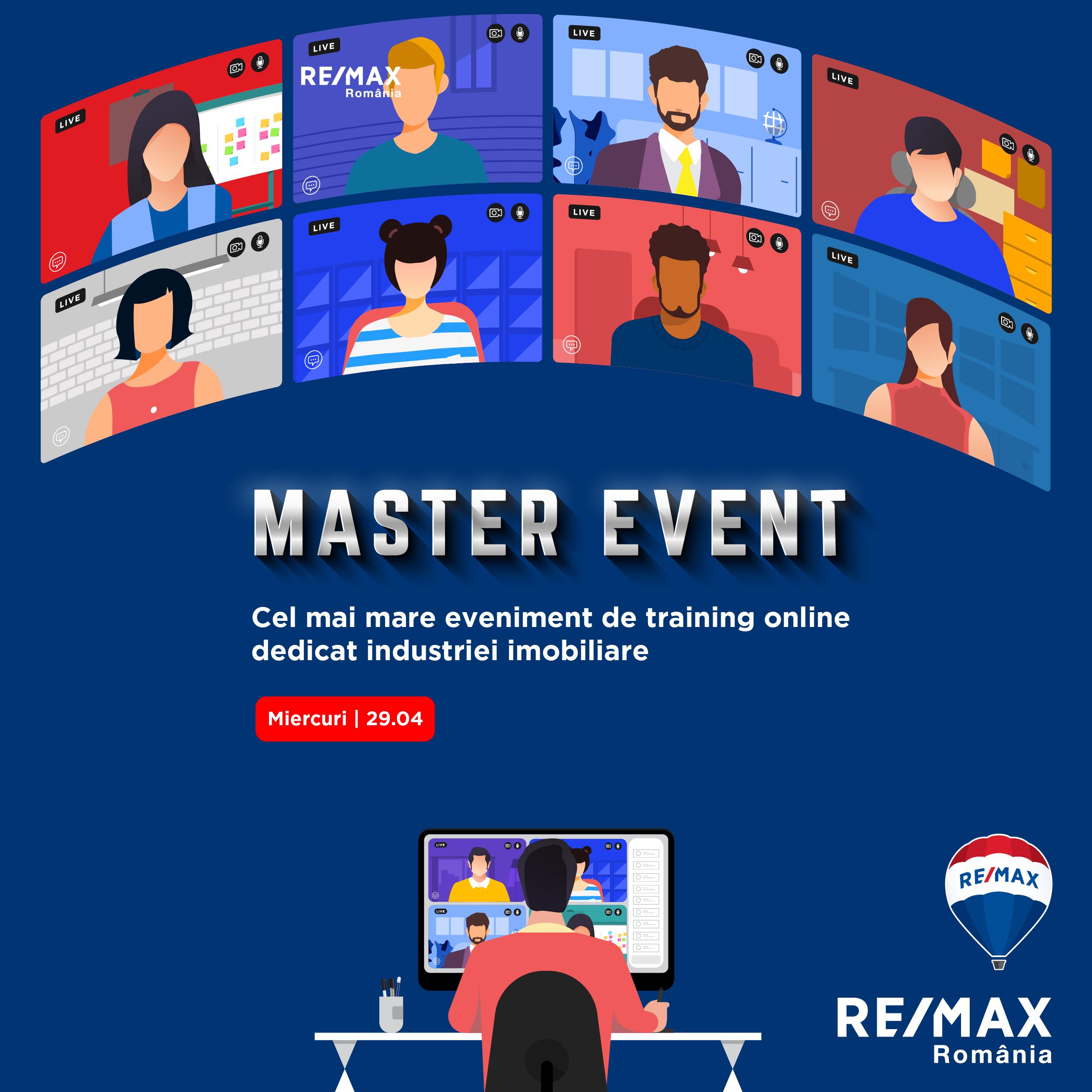RE/MAX România organizează un eveniment de training online dedicat industriei imobiliare
