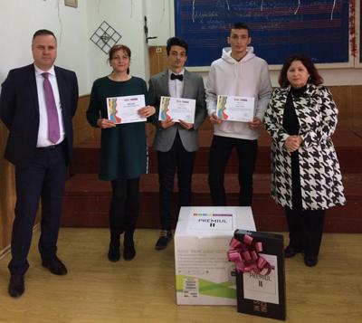 """Premiile Programului """"Sănătos în Clasă. Sănătos Acasă"""" au ajuns la Focșani, la Colegiul Național Pedagogic """"Spiru Haret"""""""
