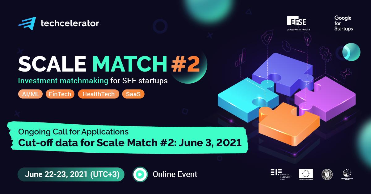 Techcelerator lansează a doua ediție a programului Scale Match, matchaton regional dedicat startup-urilor hight tech