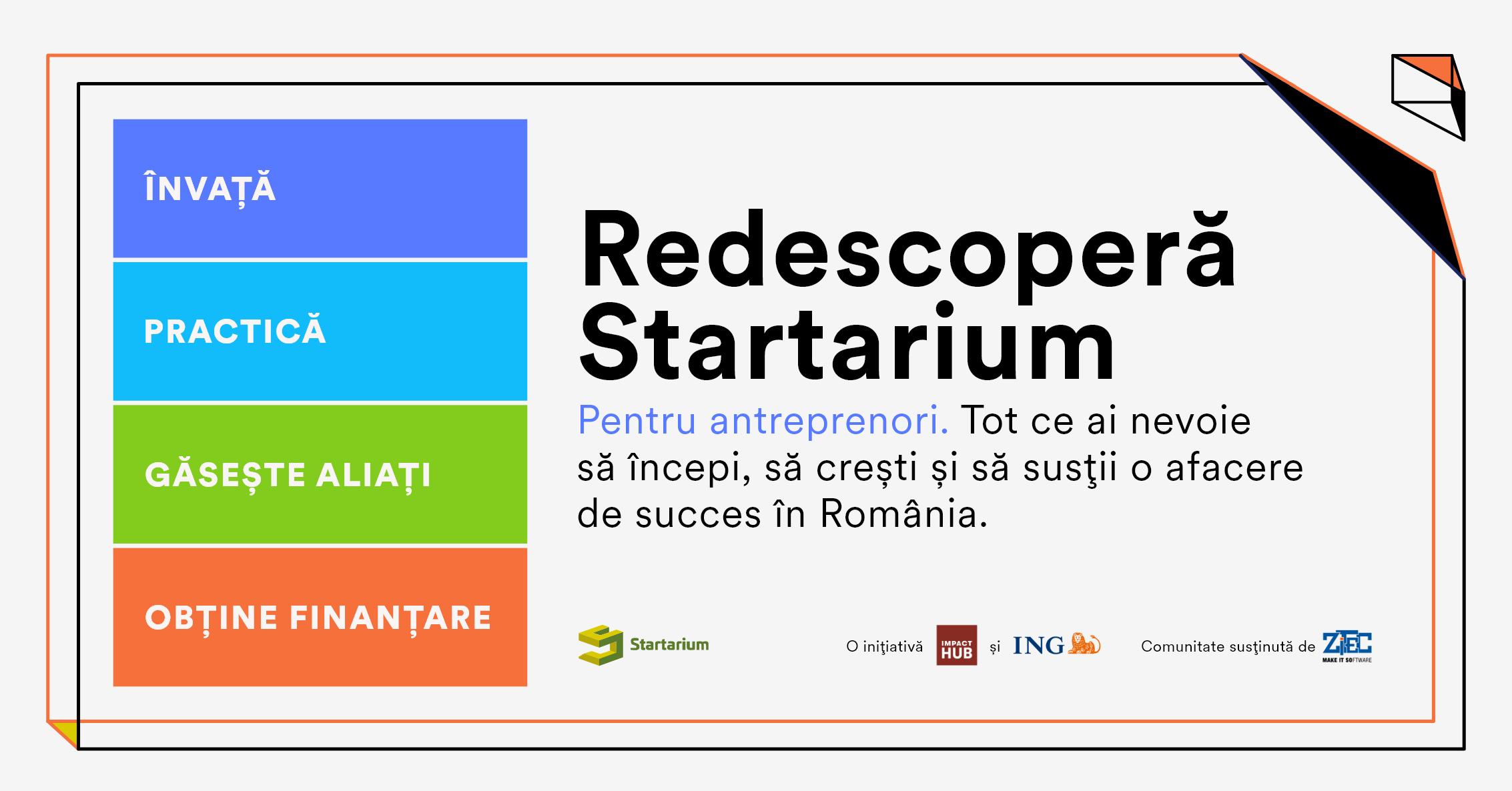 Startarium anunță noi planuri și produse cu care va susține 100.000 de antreprenori români