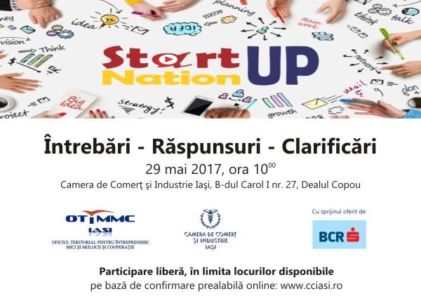 Sesiune de informare având ca temă Programul Start-Up Nation la Camera de Comerț și Industrie Iași