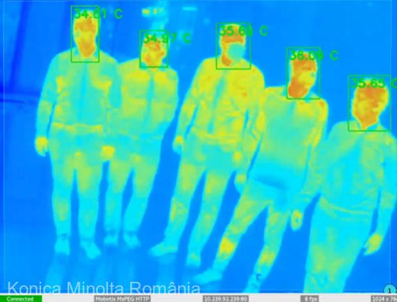 Konica Minolta România a dezvoltat o aplicaţie de analiză termală şi detectare a feţei