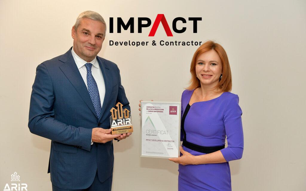 Impact Developer & Contractor, primul dezvoltator imobiliar listat la bursă, devine membru ARIR