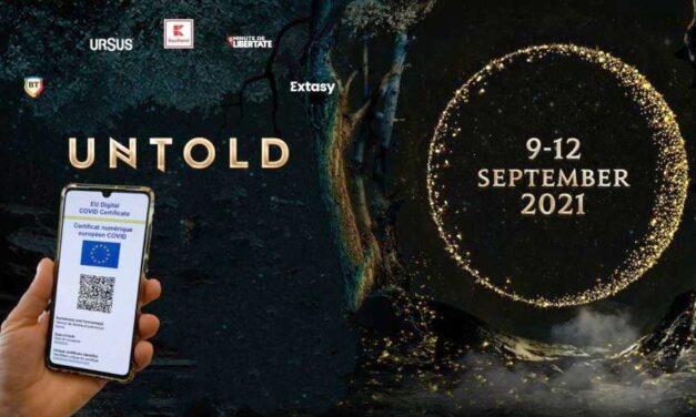 UNTOLD, primul eveniment din România cu acces exclusiv pe bază de certificat digital european COVID-19