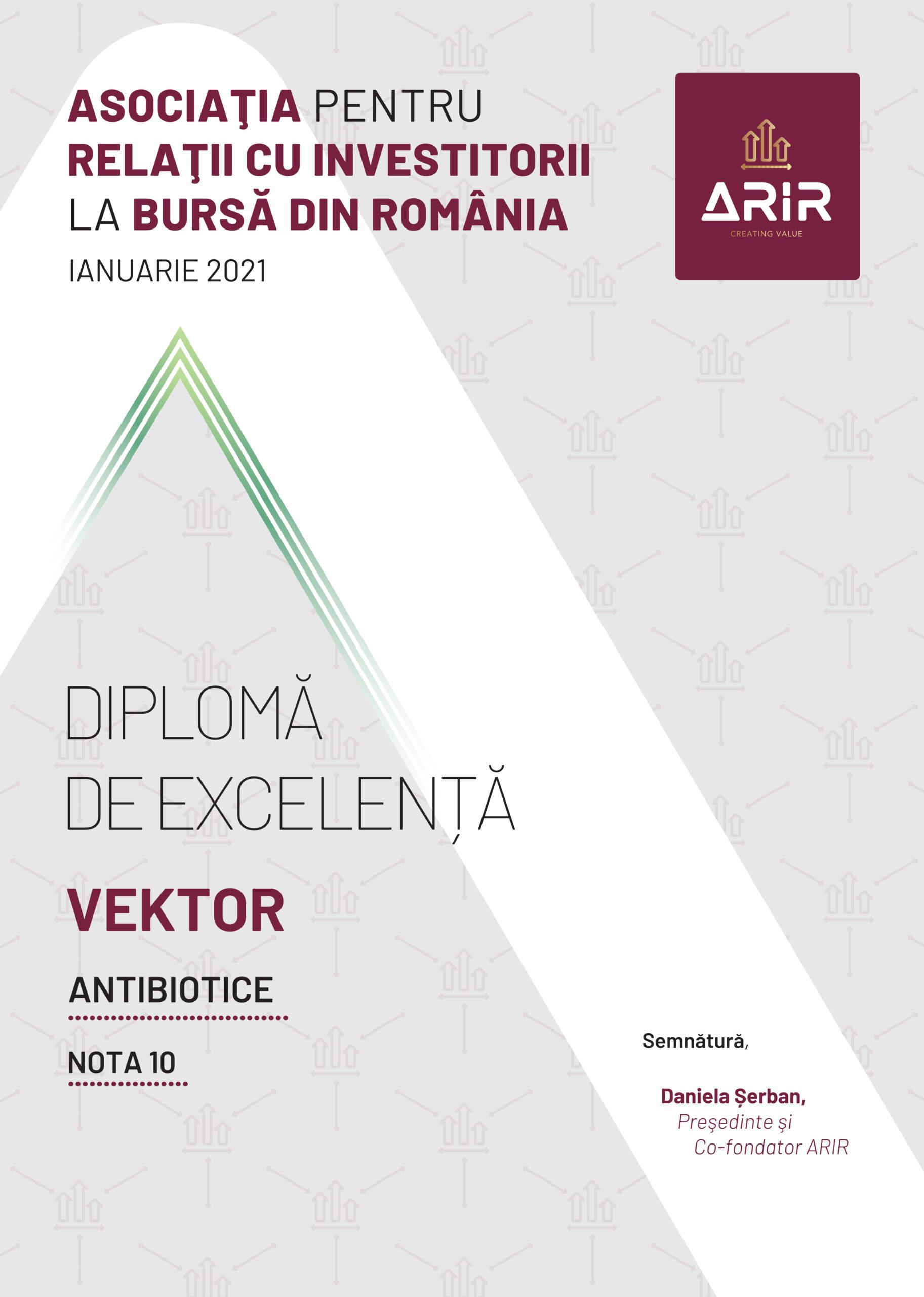 Antibiotice Iași a obținut nota 10 pentru comunicarea cu investitorii