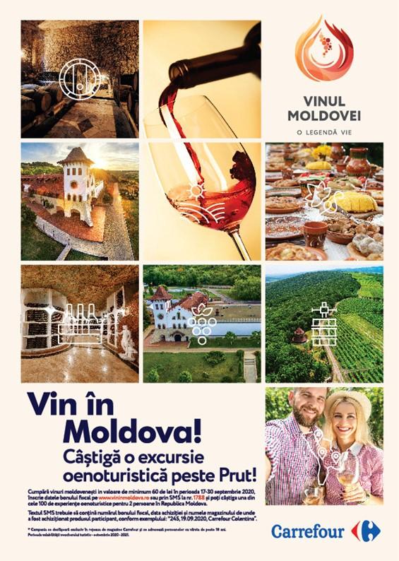 """Wine of Moldova și Carrefour lansează campania """"Vin în Moldova"""""""