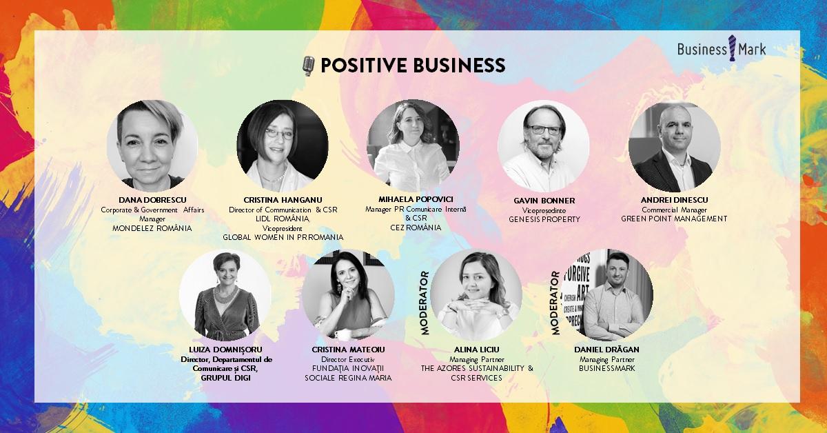 """Sustenabilitate, responsabilitate socială și implicare în contextul pandemiei – teme de dezbatere  la conferința online """"POSITIVE BUSINESS. A talk about sustainability and positive impact in business"""""""